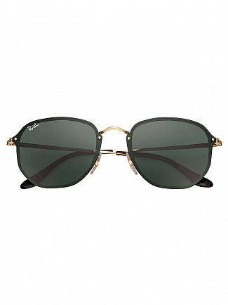 Ray-Ban Black Metal Round Sunglasses