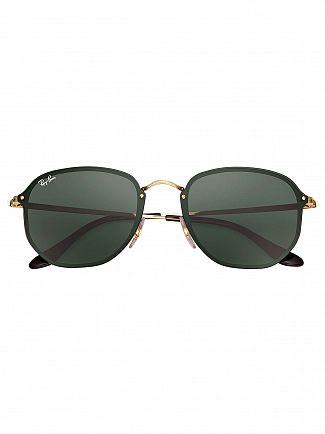 Ray-Ban Black Blaze Hexagonal Metal Sunglasses