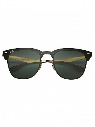 Ray-Ban Black/Gold Blaze Clubmaster Steel Sunglasses