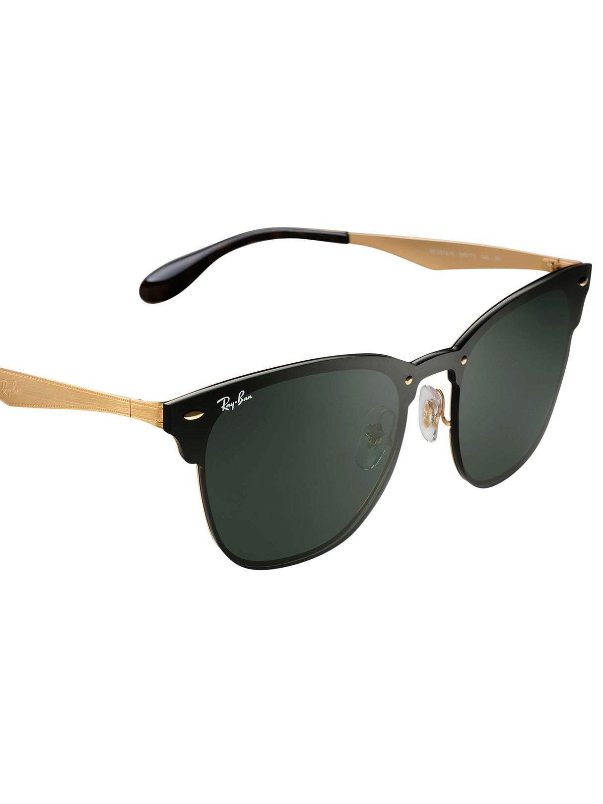 6f3e5ccb38 Ray-Ban Black Gold Blaze Clubmaster Steel Sunglasses