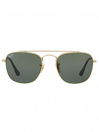 Ray-Ban Black/Gold Metal Sunglasses