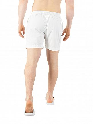 Calvin Klein White Medium Drawstring Swim Shorts