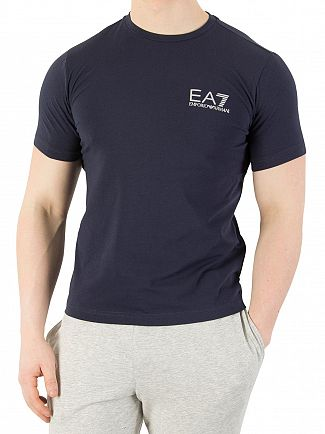 EA7 Navy Chest Logo T-Shirt