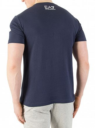 EA7 Navy Graphic T-shirt