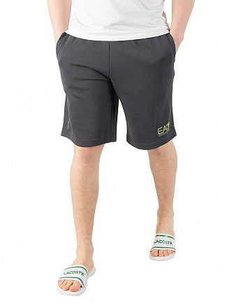 EA7 Steel Grey Reflective Logo Sweat Shorts