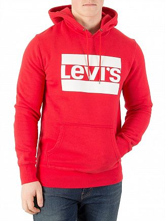 Levi's Red Graphic Pullover Hoodie