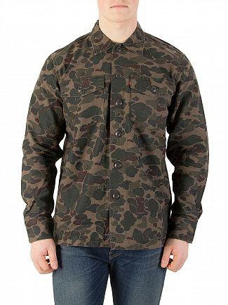 Levi's Camo Military Overshirt Jacket
