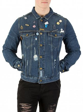 Scotch & Soda Souvenir Blauw Ams Bluw Trucker Denim Jacket