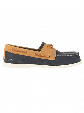 Sperry Top-Sider Wash Navy / Tan A/O 2-Eye Boat Shoes