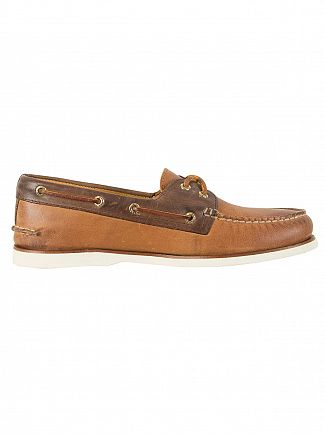 Sperry Top-Sider Tan / Brown Gold A/O 2-Eye Boat Shoes