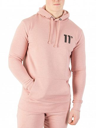 11 Degrees Rose Marl Core Pullover Hoodie