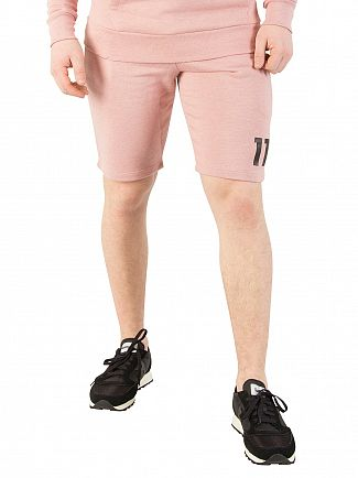 11 Degrees Rose Marl Core Sweat Shorts