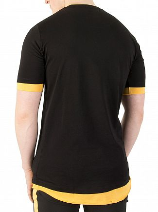 11 Degrees Black/Zest Layered T-Shirt