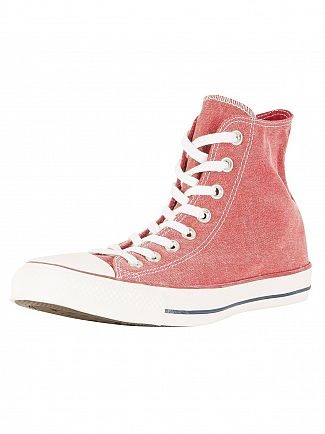 Converse Enamel Red CT All Star Hi Trainers