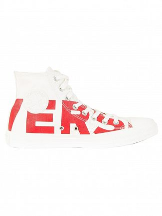 Converse Natural/Enamel Red CT All Star Hi Trainers
