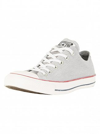 Converse Wolf Grey/White CT All Star OX Trainers