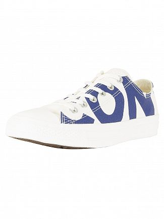 Converse Natural/Blue CT All Star OX Trainers