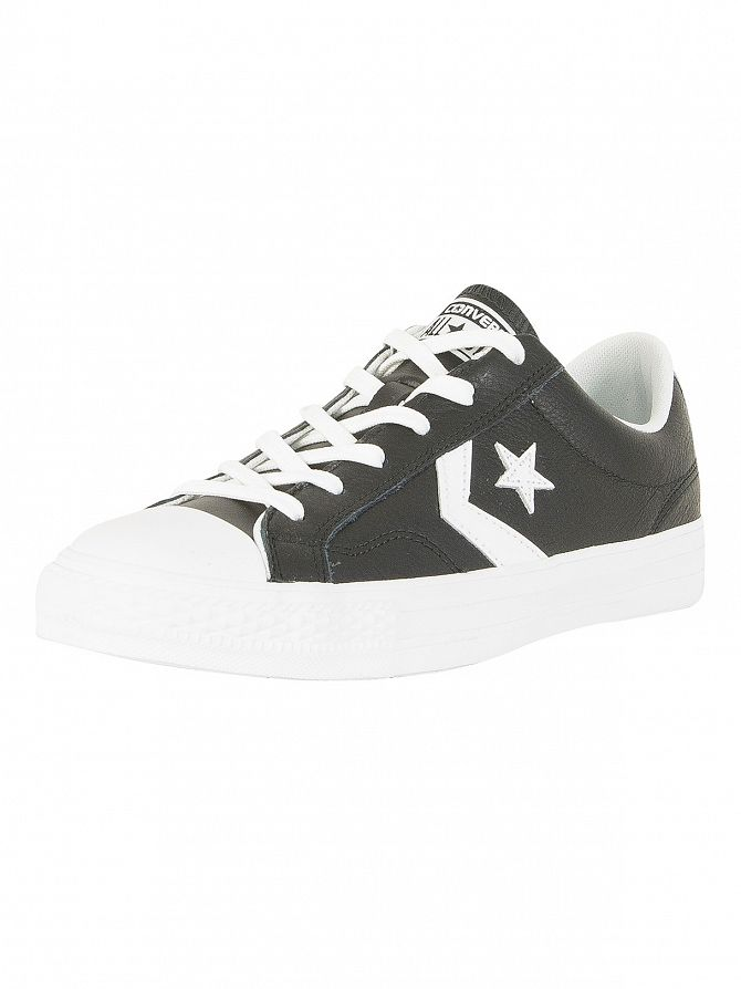 Converse Black/White Star Player OX Trainers