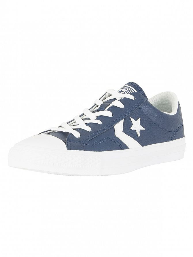 Converse Navy/White Star Player OX Trainers