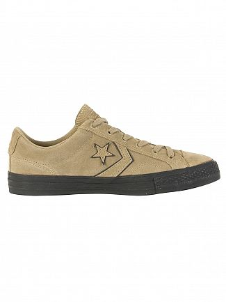Converse Khaki/Black Star Player OX Trainers