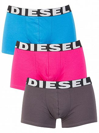 Diesel Grey/Blue/Pink 3 Pack Shawn Seasonal Trunks