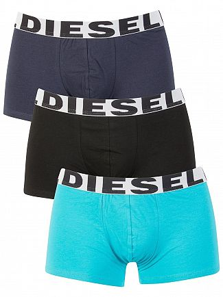 Diesel Blue/Navy/Black 3 Pack Shawn Seasonal Trunks