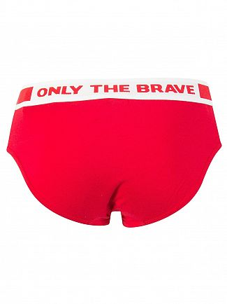 Diesel Red Andre Fresh & Bright Briefs