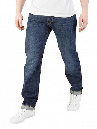 Edwin Kingston Blue Denim ED-55 Kingston Tapered Jeans
