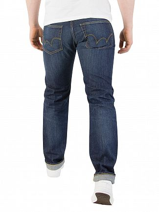Edwin Kingston Blue Denim ED-55 Kingston Tapered Jeans