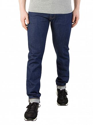 Edwin Blue Rinsed ED-85 Slim Tapered Jeans
