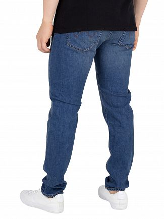 Edwin Power Blue Denim ED-85 Slim Tapered Jeans