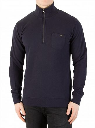Edwin Navy Warm Up Pullover Sweatshirt