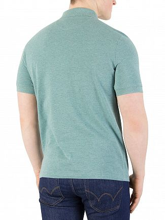 Farah Vintage Nile Green Marl Blaney Polo Shirt