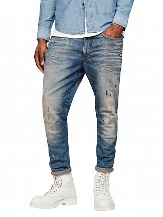 G-Star Light Aged Restored D-Stag 3D Super Slim Jeans