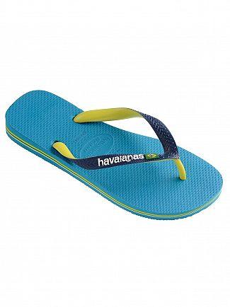 Havaianas Turquoise Brasil Mix Flip Flops