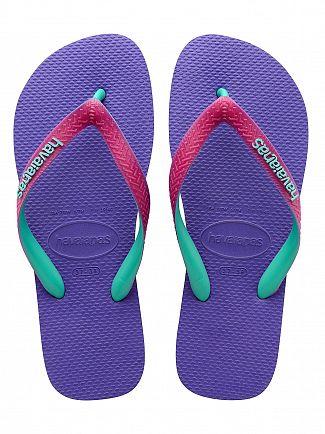 Havaianas Purple/Raspberry Top Mix Flip Flops