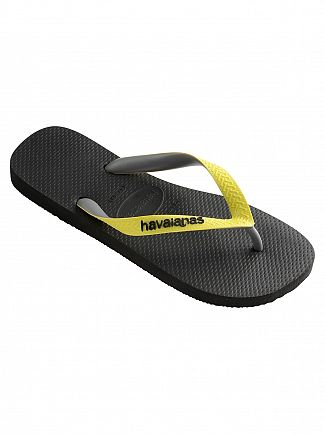Havaianas Black/Yellow Top Mix Flip Flops