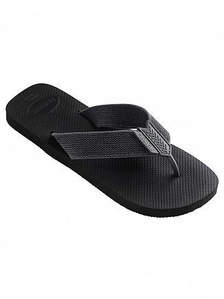 Havaianas Black/Grey Urban Basic Flip Flops