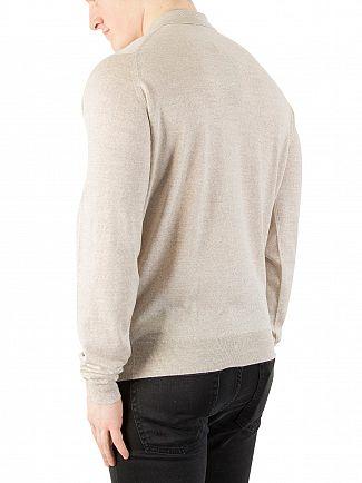 John Smedley Eastwood Beige Belper Longsleeved Polo Shirt