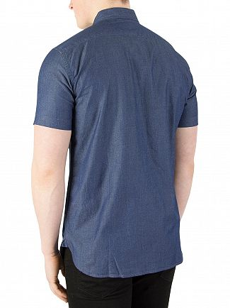 Levi's Blue Shade Indigo Short Sleeved Pocket Shirt