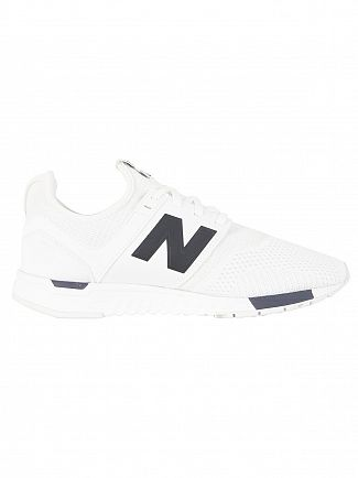 New Balance White/Grey/Navy 247 Trainers