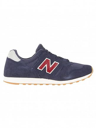 New Balance Navy/Burgundy 373 Trainers