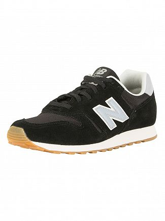 New Balance Black/Light Blue 373 Trainers