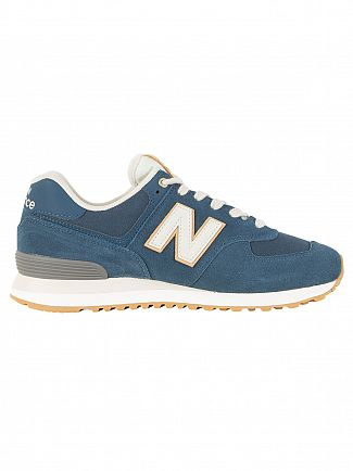New Balance Blue/White 574 Trainers
