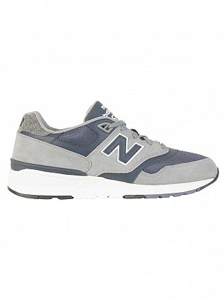 New Balance Grey/Navy 597 Trainers