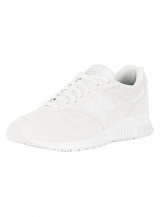 New Balance White 840 Trainers