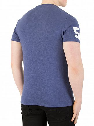 Superdry Frontier Blue Premium Goods Duo T-Shirt