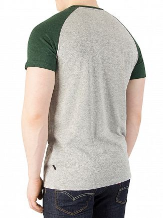 Superdry Upstate Grey/Haze Green Premium Goods Raglan T-Shirt