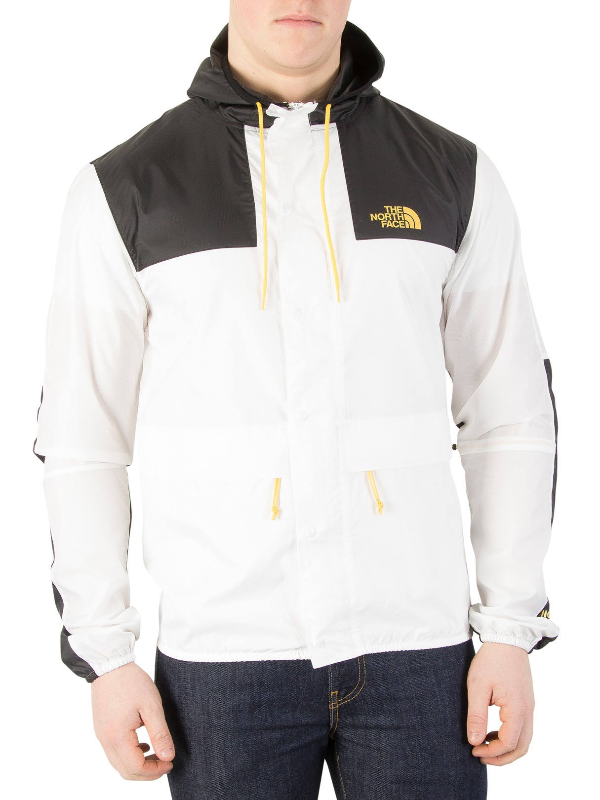 Leather Jackets & Coats|Men's The North Face White/Black 1985 Mountain Jacket
