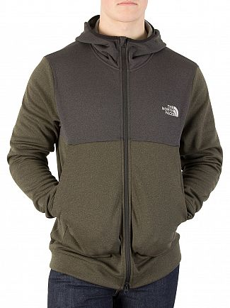 The North Face New Taupe Green Tech Zip Hoodie